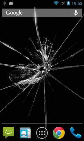 Shake! Cracked Screen LWP - треснувший экран | Android