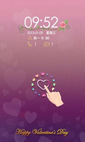 Скриншот B-Forever Love GO Locker Theme – тема св. Свалентина