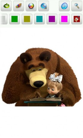Маша и медведь. Раскраска | Android