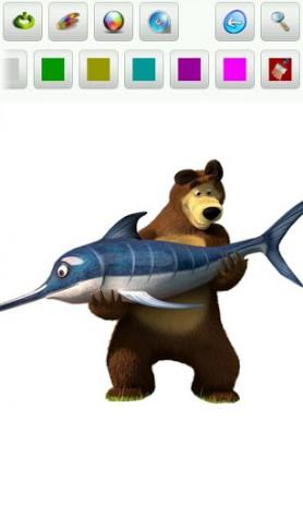 Скриншот Маша и медведь. Раскраска