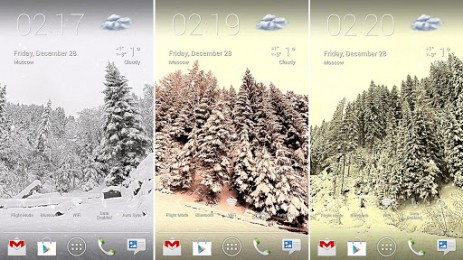 """Скриншот Winter Lands 3D Live Wallpaper – обои """"Зимний мир"""""""