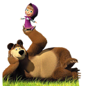 Маша и медведь. Раскраска - icon