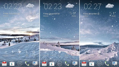 Скриншот Winter Lands 3D Live Wallpaper — обои «Зимний мир»