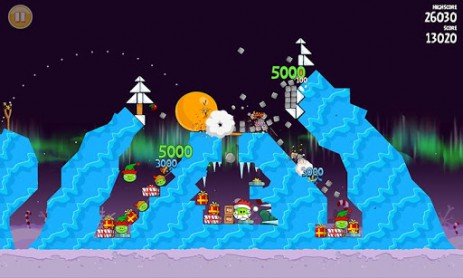 Angry Birds Seasons: Winter Wonderham! - новая зимняя часть злых птичек | Android