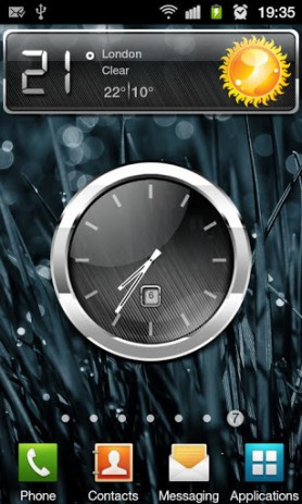 "Скриншот HD Metallic Widgets – виджеты в стиле ""металл"""