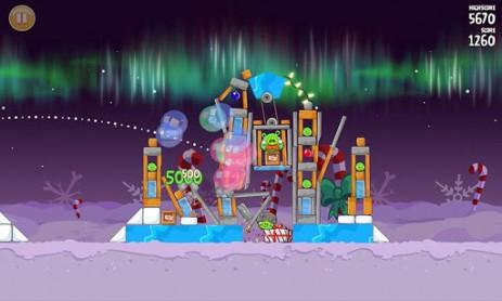 Скриншот Angry Birds Seasons: Winter Wonderham! – новая зимняя часть злых птичек