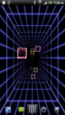 Скриншот голографические обои