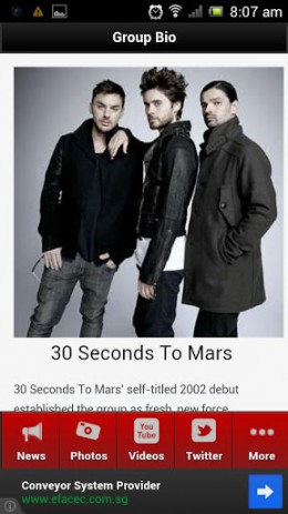 Скриншот 30 Seconds to Mars Lite