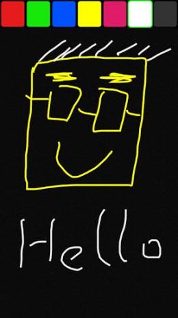 Скриншот детская рисовалка