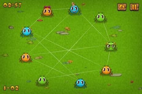 Скриншот Паучки – распутываем паутину