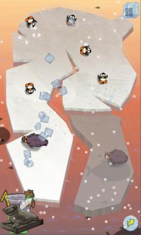 Скриншот пингвины на льду