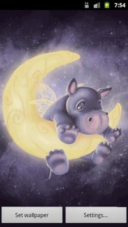 Скриншот Sleepy Hippo Live Wallpaper