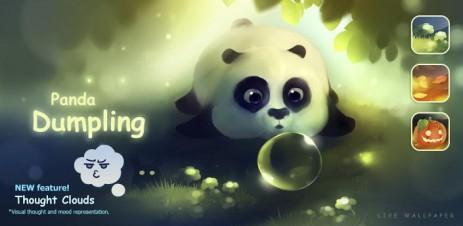 Poster Обои Панда — Panda Dumpling