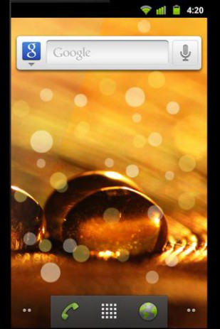 Golden Drops Live Wallpaper | Android