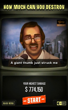Скриншот огромный палец