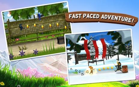 Скриншот приключения ниндзя