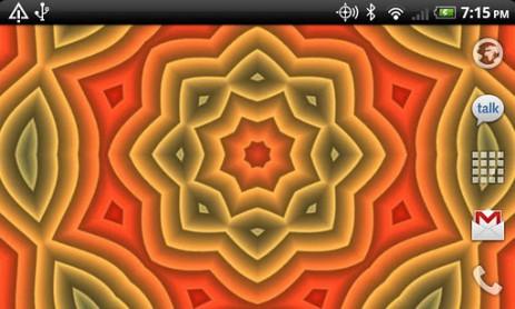 "Скриншот Prismatic – обои ""Калейдоскоп"""