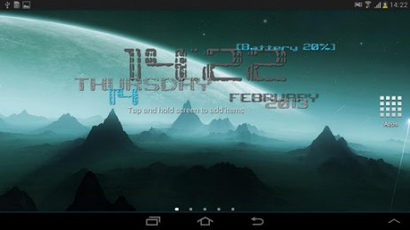Скриншот обои, время и дата