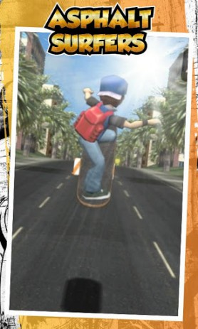 Скриншот катание на скейтборде по асфальту