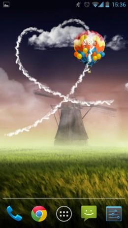 Скриншот Обои с воздушными шарами