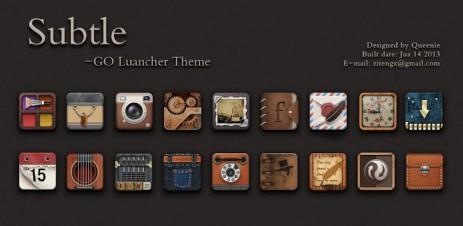 X-Subtle GO Launcher EX Theme - thumbnail