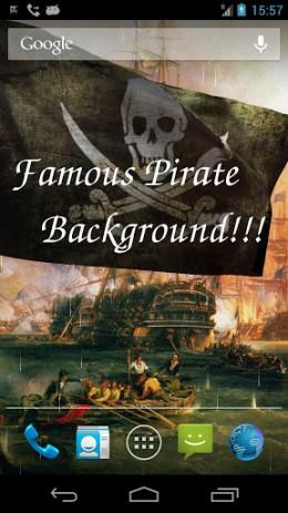 """Скриншот Pirate Flag – обои """"пиратский флаг"""""""