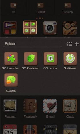 Скриншот X-Subtle GO Launcher EX Theme