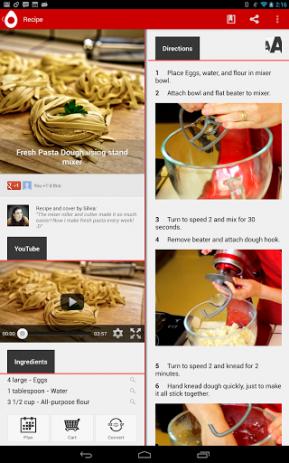 Скриншот книга рецептов