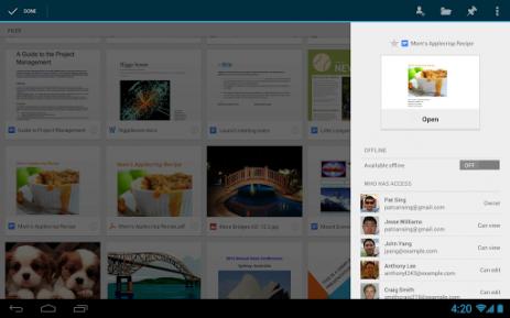 Диск Google - хранилище документов | Android