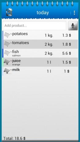 Список покупок | Android