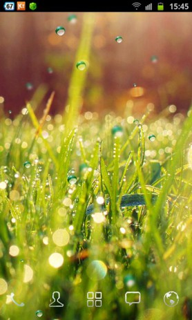 Galaxy S4 Rain n Grass LWP | Android