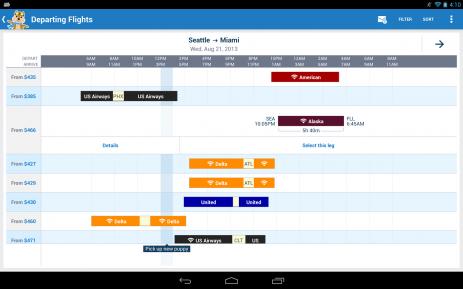Скриншот Hipmunk Flights & Hotels