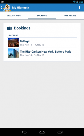 Скриншот Hipmunk Flights & Hotels