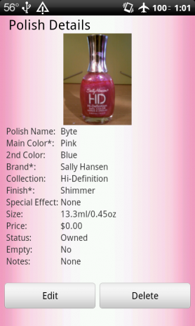Nail Polish Cataloger | Android