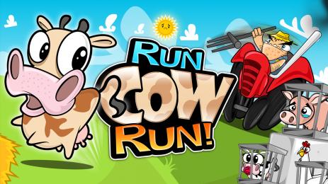 "Poster <span lang=""ru"">Беги Корова Беги (Run Cow Run)</span>"
