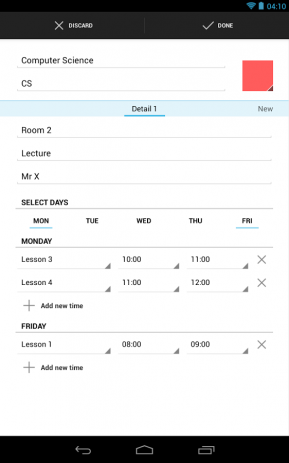 Timetable | Android