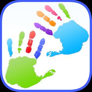 Poster Дети Finger картина