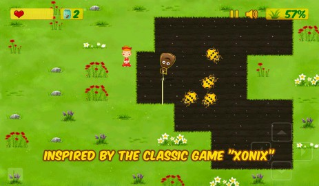 Скриншот Kids Xonix Game