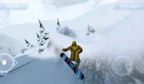 Скриншот катание на сноуборде