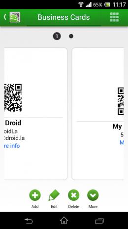 Скриншот QR Droid™ (Pусский)
