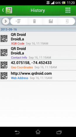Скриншот QR Droid™