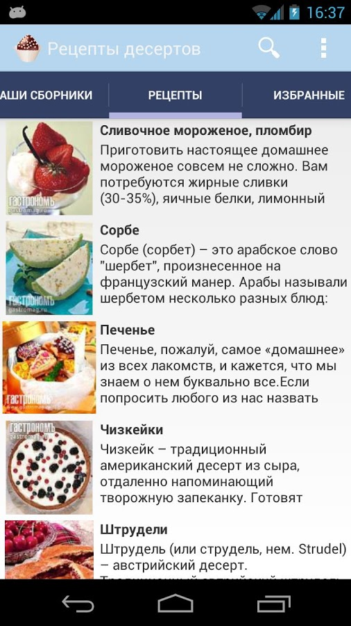 Рецепты вкусных блюд десерты