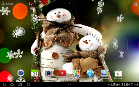 Снеговики Живые Обои - thumbnail