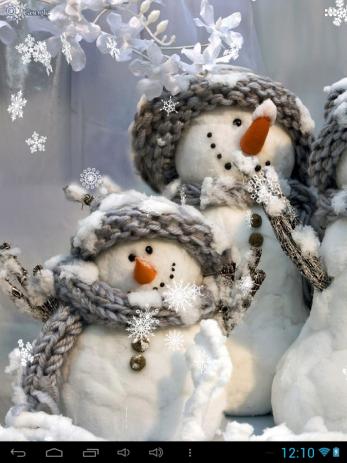 Скриншот Снеговики Живые Обои
