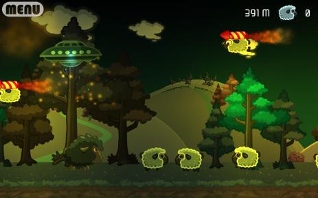 Скриншот НЛО против Овец