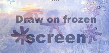 """Poster <span lang=""""ru"""">Рисуйте на замерзшем экране</span>"""
