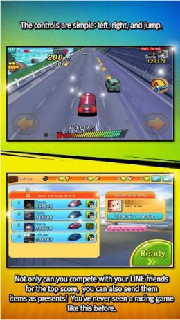 Скриншот LINE Go!Go!Go!