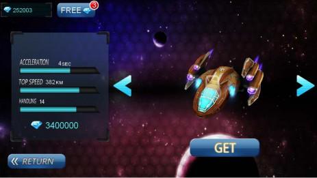 Скриншот Spacе Racing 3D