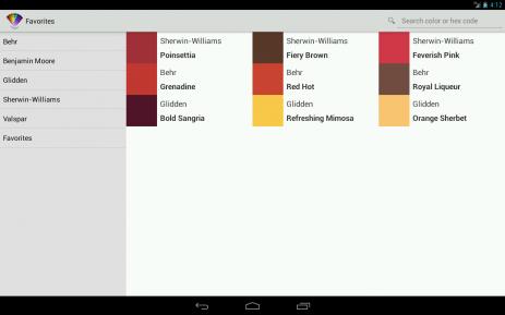 Скриншот цветовые подборки