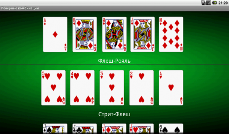 Покерные Комбинации | Android